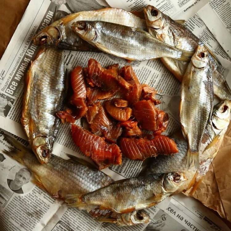 Русский деликатес: вяленая вобла